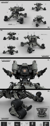 Highlander all terrain scout drone by KaranaK