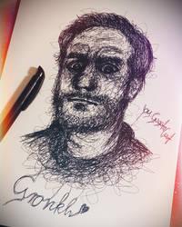 Gronkh One Line Drawing by XxGogetaCatxX
