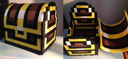 Zelda Treasure Chest Perler by Toriroz