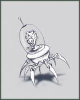 Alien Spider Bot by dusthead-23