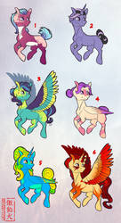 Adoptables - Ponies by Rattlesire