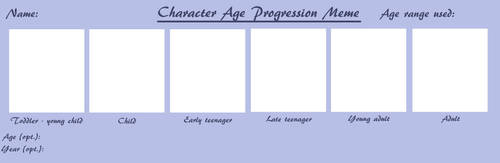 Character Age Progression Meme BLANK by xXSweeneyLovettXx