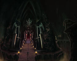 Entrance to the Dark Temple by Chimpanboy
