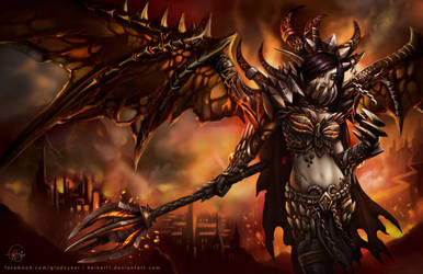 Female Deathwing by keikei11