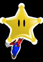 Mario got a Grand Star by faren916