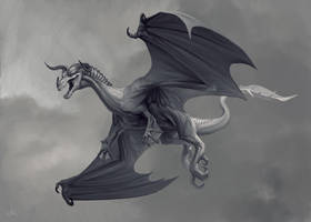 Gray Dragon by WhiteGrifon
