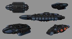 Juggernaut-Class Battlecruiser by madfox43