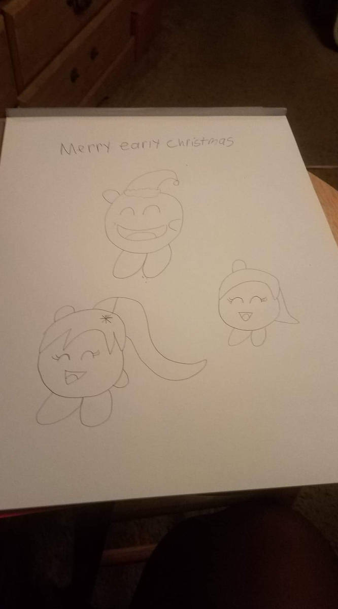 Merry christmas to Kirby Gena and Me by Bcfoster20