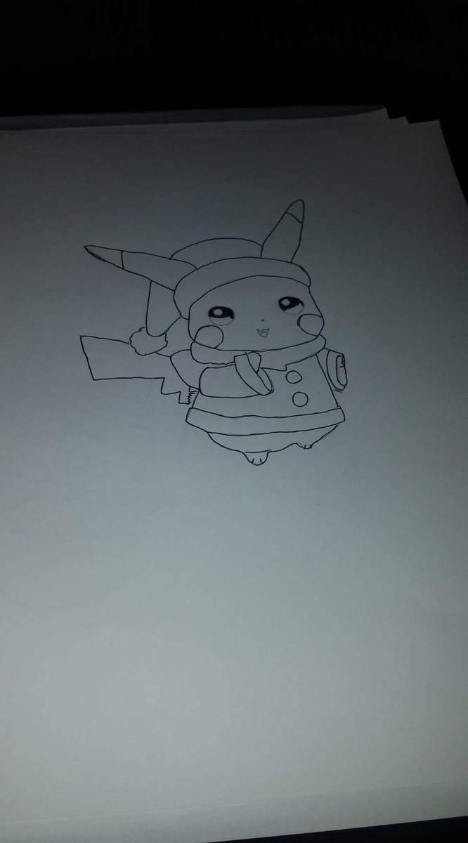 Pikachu christmas by Bcfoster20