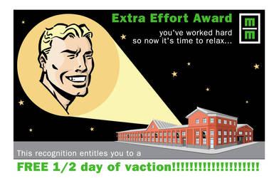 Extra Effort Award Men by LoranJSkinkis