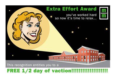 Extra Effort Award Women by LoranJSkinkis