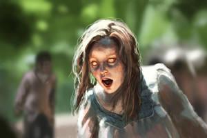 ZombieSpeedpaint by JuneJenssen