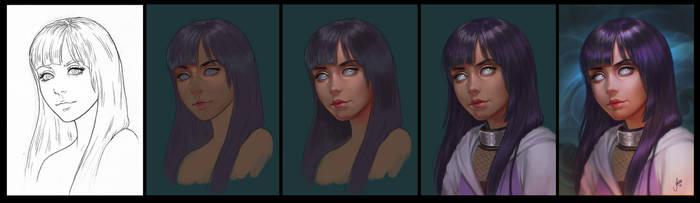 Progress: Hinata by JuneJenssen