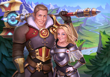 Jayce and Lux by JuneJenssen