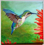 Humming bird Bienenelfe Meehkolibri painting by IronAries