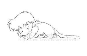 Sweet dreams - lineart by Kuroi-Tenshii