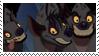 The Three Hyenas -Stamp- by Glowhyena