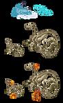 Skeleton Creptys Dragon lineup by VixenDra