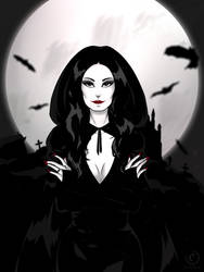 .:Morticia Addams:. by EvilZera