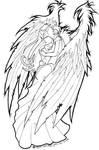 angel protecting girl by PretzlCosplay