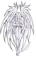 angel tattoo by PretzlCosplay