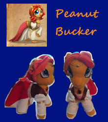 Peanut Bucker Plushie, First attempt by shadowcat-666