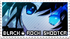 Black Rock Shooter stamp + plz by InsaneMelodii