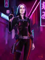 Cyberpunk police by ValenteS