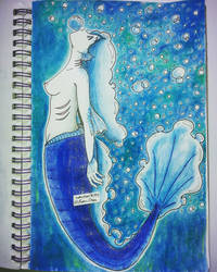 Mermay Day 14 - Bubbles by nakuchan9095