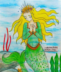 Mermay Day 17 - Goddess by nakuchan9095