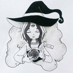 Inktober Day 03 - Oracle Witch by nakuchan9095