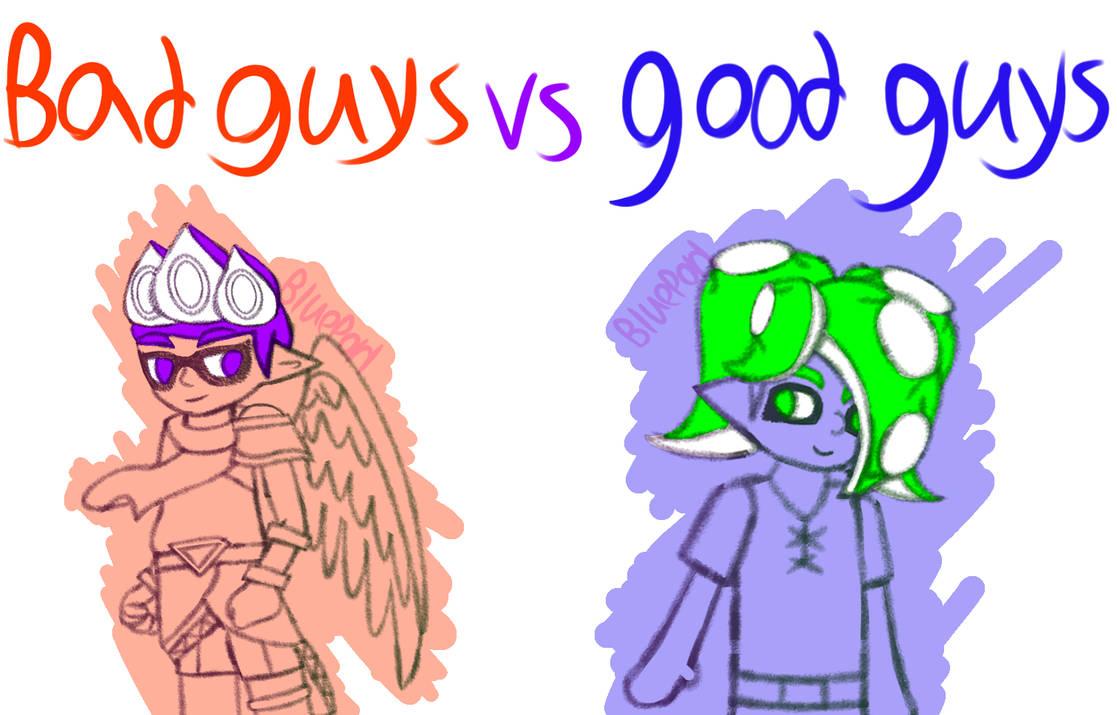 [OCs] Bad Guys vs Good Guys/Villains vs Heroes by BluePorl