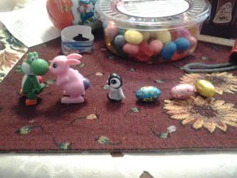 Yoshies, Bunnies, Penguins and Eggs by Tom-Otaku