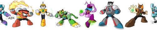 Fan-Made Robot Masters! by UltimateYoshi