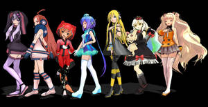 Yukari, Miki, Iroha, Lapis, Lily, Mayu and Seeu~ by Kagami-Usagi