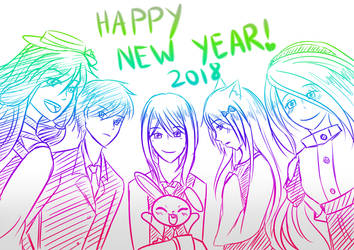 Happy New Year! 2018 by Kagami-Usagi