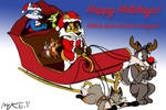 Maxwell and Friends' Christmas Card 2018 by WayCool64