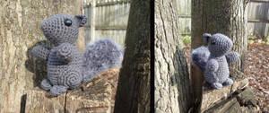 Squirrel Amigurumi by MilesofCrochet