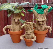 Mandrake Family by MilesofCrochet