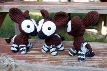 New and Improved Okapis by MilesofCrochet