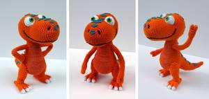 Buddy: Dinosaur Train Amigurumi by MilesofCrochet
