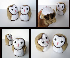 Barn Owl Amigurumi by MilesofCrochet