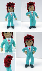 David Bowe 'Life on Mars?' Amigurumi Doll by MilesofCrochet