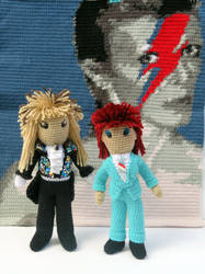 David and the Bowies by MilesofCrochet