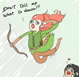 Don't tell what to dooooo_tauriel_and_kili by TiaAnthy