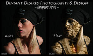 Courtney Zombie Before n After by DeviantDesires