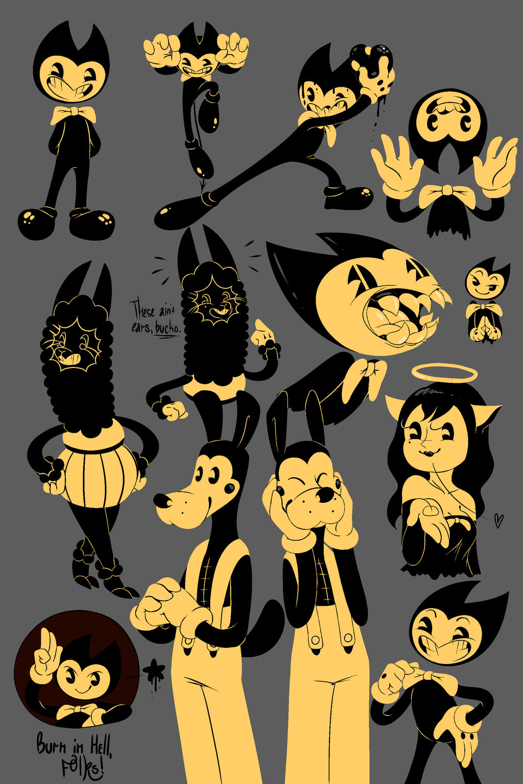 .:BATIM Sketches Colored:. by The1nkyG33k