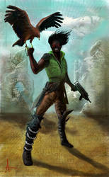 Fictional African Warlord by LoserLunatic