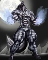 Blue Magma Wolf by B9TRIBECA by wwolfneo