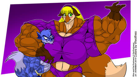 Atariboy Elza And Fatfoxlower - Colored by wwolfneo